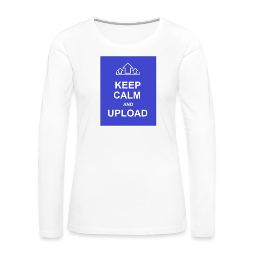 RockoWear Keep Calm - Women's Premium Slim Fit Long Sleeve T-Shirt