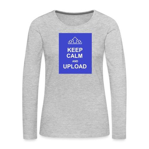 RockoWear Keep Calm - Women's Premium Long Sleeve T-Shirt