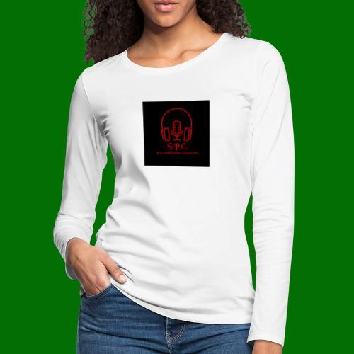 SPC Logo Black/Red - Women's Premium Slim Fit Long Sleeve T-Shirt
