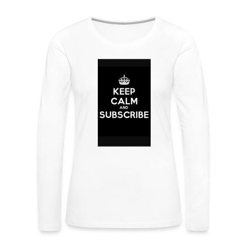 Keep calm merch - Women's Premium Long Sleeve T-Shirt
