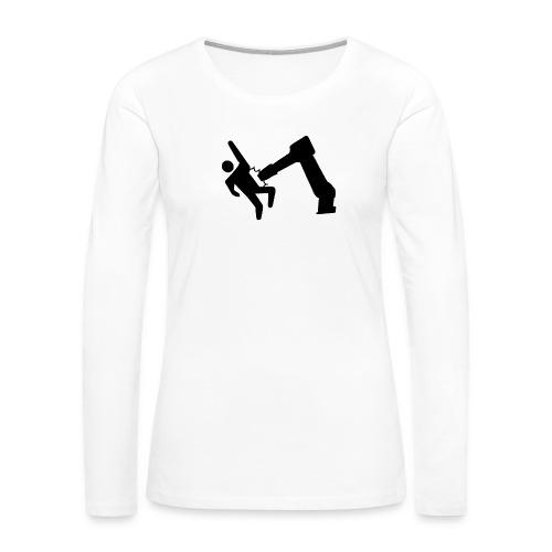 Robot Wins! - Women's Premium Slim Fit Long Sleeve T-Shirt