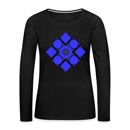 Geometric Cerulean - Women's Premium Long Sleeve T-Shirt