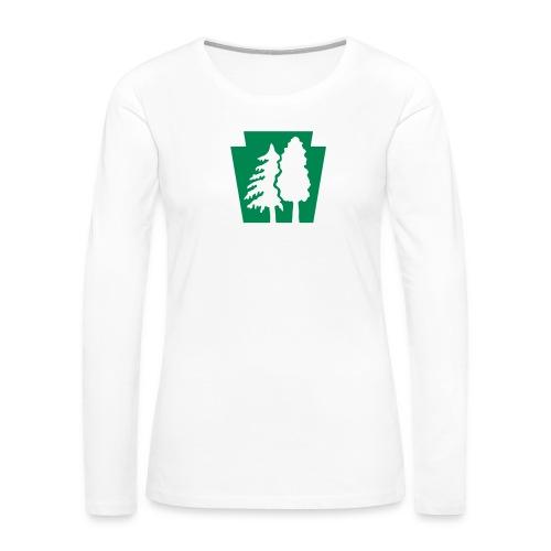 PA Keystone w/trees - Women's Premium Slim Fit Long Sleeve T-Shirt