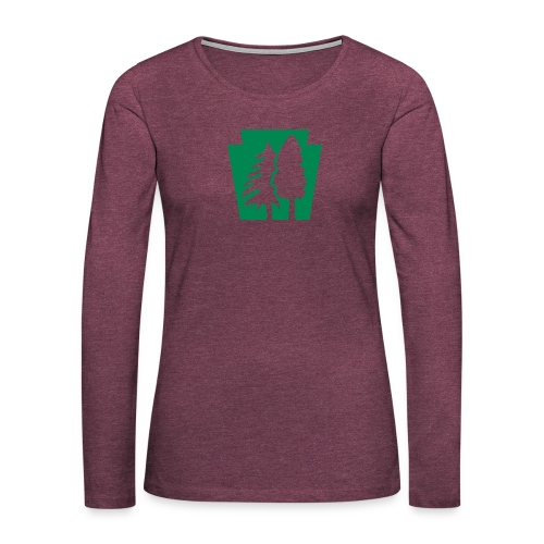 PA Keystone w/trees - Women's Premium Long Sleeve T-Shirt