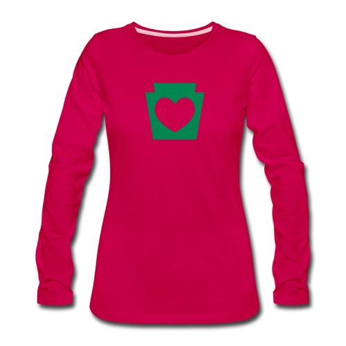 Love/Heart PA Keystone - Women's Premium Long Sleeve T-Shirt