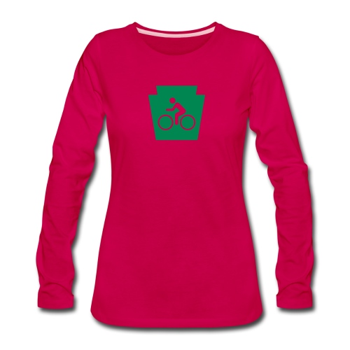 PA Keystone w/Bike (bicycle) - Women's Premium Long Sleeve T-Shirt