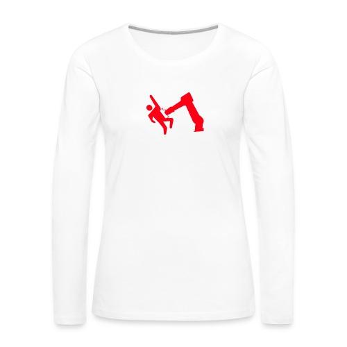 Robot Wins - Women's Premium Slim Fit Long Sleeve T-Shirt