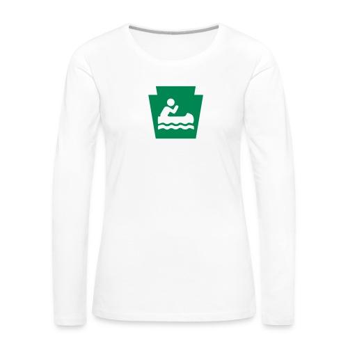 Pennsylvania Keystone Boater PA - Women's Premium Slim Fit Long Sleeve T-Shirt