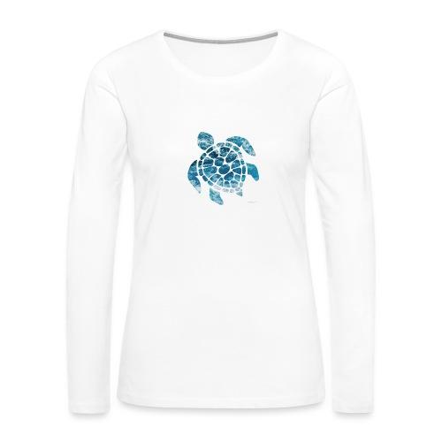 turtle - Women's Premium Slim Fit Long Sleeve T-Shirt