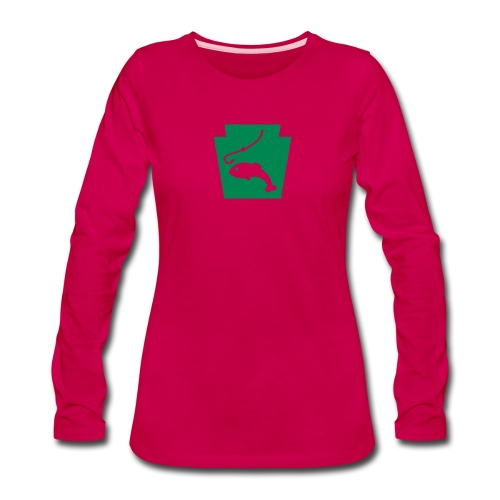 Pennsylvania Fishing Keystone PA - Women's Premium Slim Fit Long Sleeve T-Shirt