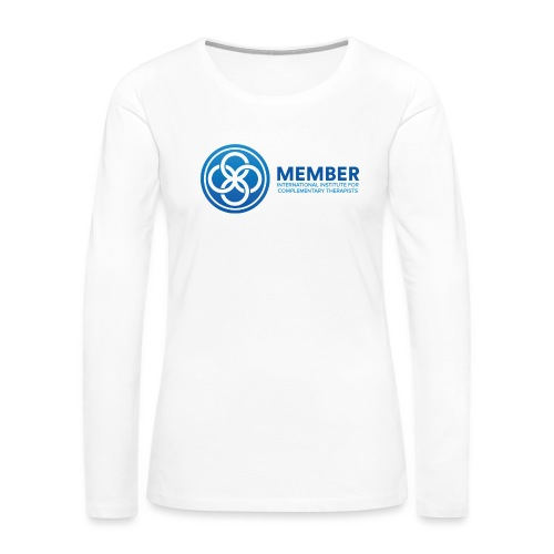IICT Member Logo - Women's Premium Slim Fit Long Sleeve T-Shirt