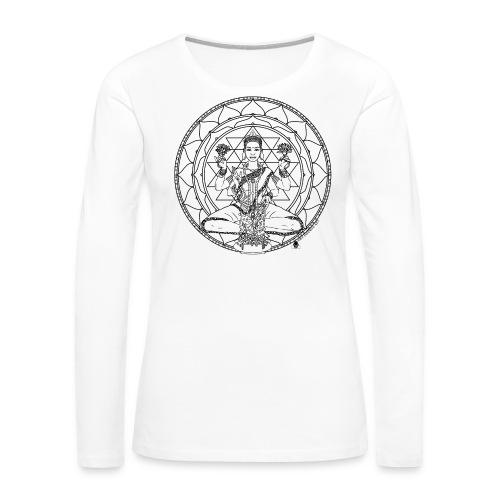 Lakshmi 700 mug art - Women's Premium Long Sleeve T-Shirt