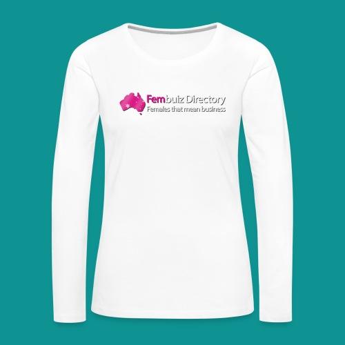Fembuiz T-shirt - Women's Premium Slim Fit Long Sleeve T-Shirt