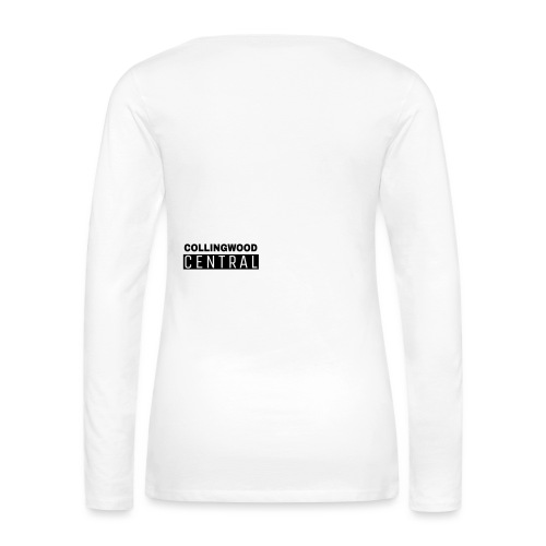 BLK Collingwood Central Logo - Women's Premium Long Sleeve T-Shirt