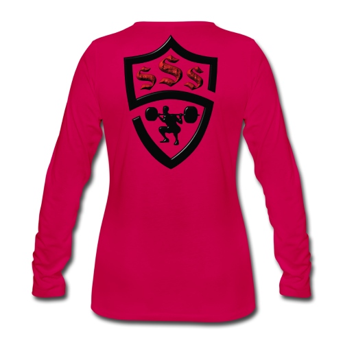 Logo Only Textured Black and Red - Women's Premium Long Sleeve T-Shirt