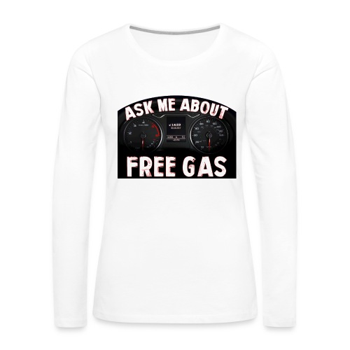 Ask me about... - Women's Premium Slim Fit Long Sleeve T-Shirt