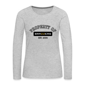 Property of Brazzers logo outline - Women's Premium Long Sleeve T-Shirt