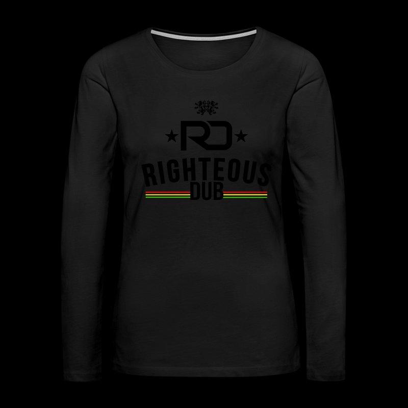 Righteous Dub Logo - Women's Premium Long Sleeve T-Shirt