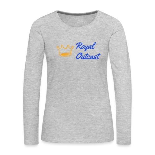 GreyRoyal Outcast with blue and gold logo - Women's Premium Long Sleeve T-Shirt