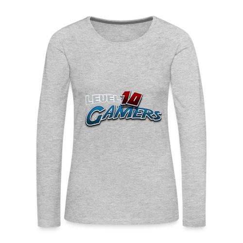 Level10Gamers Logo - Women's Premium Long Sleeve T-Shirt