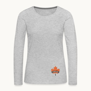 I WAS MADE IN CANADA -Linen -Carolyn Sandstrom - Women's Premium Long Sleeve T-Shirt