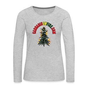 Cannabis On Fire T-Shirt 420 Cannabis Wear 2017 - Women's Premium Long Sleeve T-Shirt
