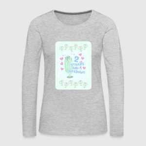 Two Straws and A Milkshake - Women's Premium Long Sleeve T-Shirt