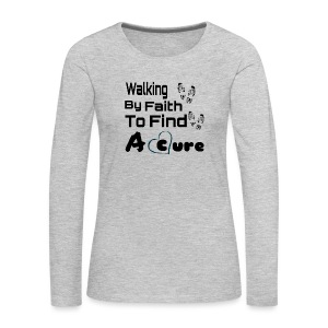 Walking By Faith Lupus Awareness Graphic Tee - Women's Premium Long Sleeve T-Shirt