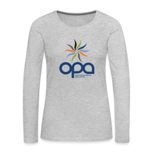 Long-sleeve t-shirt with full color OPA logo - Women's Premium Long Sleeve T-Shirt