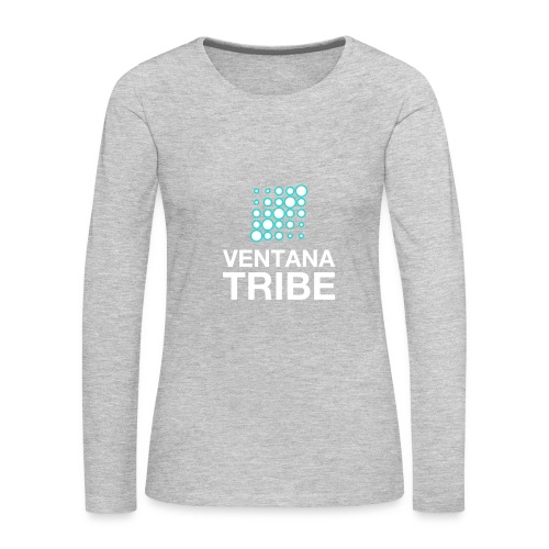 Ventana Tribe White Logo - Women's Premium Long Sleeve T-Shirt