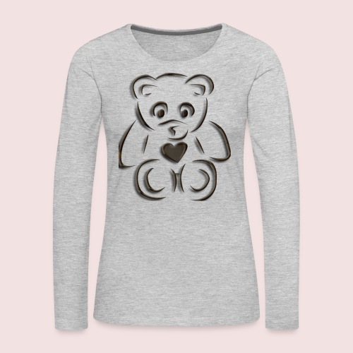 realistic teddy - Women's Premium Long Sleeve T-Shirt