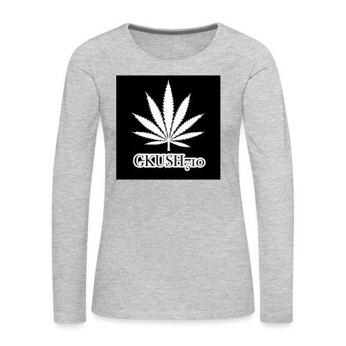 Weed Leaf Gkush710 Hoodies - Women's Premium Long Sleeve T-Shirt