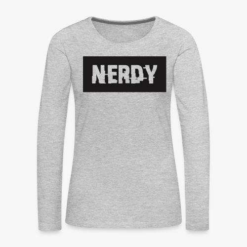 NerdyMerch - Women's Premium Long Sleeve T-Shirt