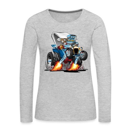 Custom T-bucket Roadster Hotrod Cartoon - Women's Premium Long Sleeve T-Shirt