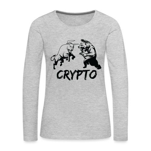 CryptoBattle Black - Women's Premium Long Sleeve T-Shirt