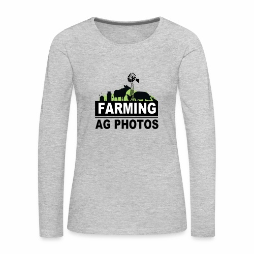 Farming Ag Photos - Women's Premium Slim Fit Long Sleeve T-Shirt