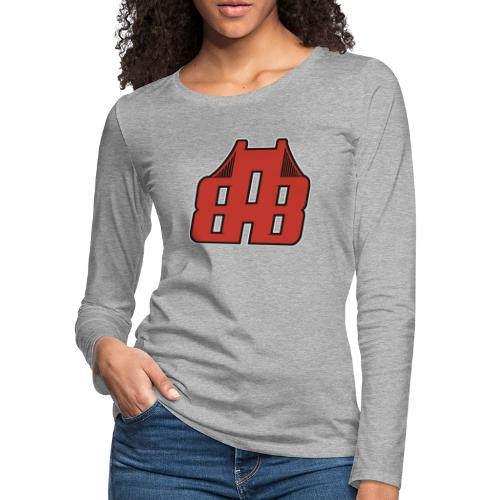 Bay Area Buggs Official Logo - Women's Premium Slim Fit Long Sleeve T-Shirt