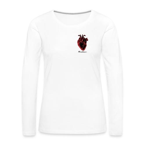 heart puso 27 - Women's Premium Slim Fit Long Sleeve T-Shirt