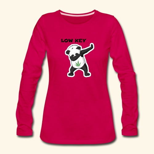 LOW KEY DAB BEAR - Women's Premium Long Sleeve T-Shirt