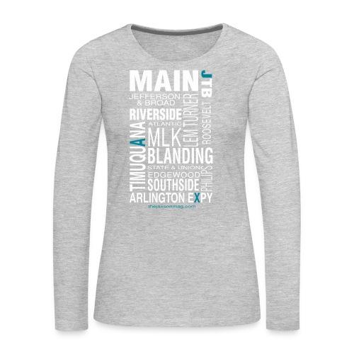 Jacksonville Streets - Women's Premium Long Sleeve T-Shirt