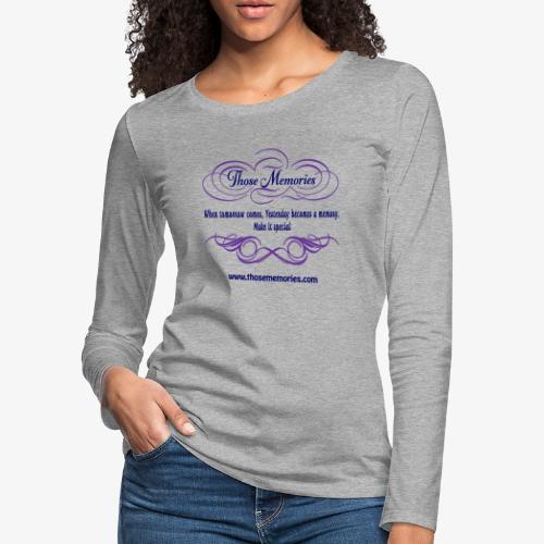 Those Memories Logo - Women's Premium Slim Fit Long Sleeve T-Shirt
