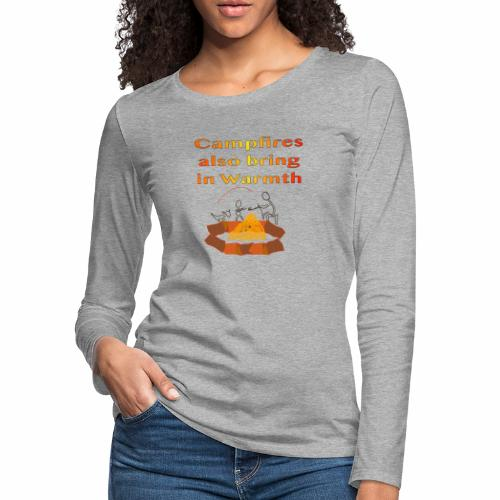 Around the Campfire - Women's Premium Slim Fit Long Sleeve T-Shirt