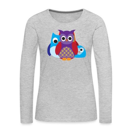 Cute Owls Eyes - Women's Premium Long Sleeve T-Shirt