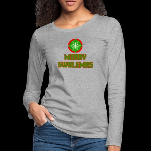 MERRY SWOLEMAS - Women's Premium Slim Fit Long Sleeve T-Shirt