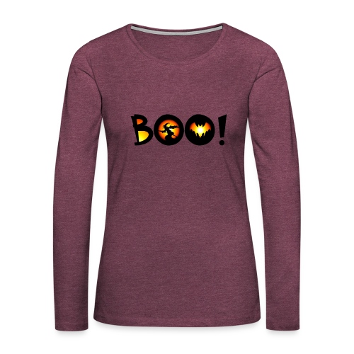Happy Halloween Boo 2 - Women's Premium Long Sleeve T-Shirt