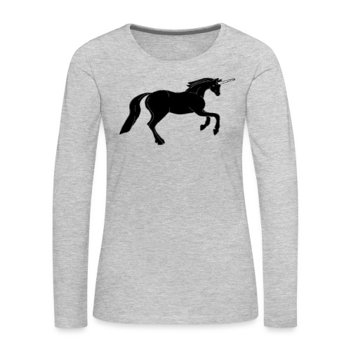 unicorn black - Women's Premium Long Sleeve T-Shirt