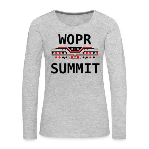 WOPR Summit 0x0 RB - Women's Premium Slim Fit Long Sleeve T-Shirt
