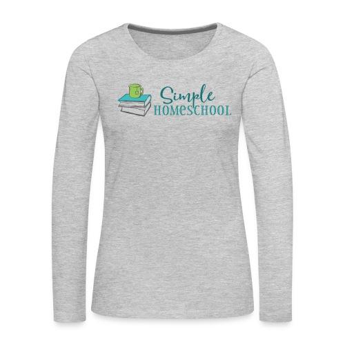 Simple Homeschool Logo - Women's Premium Slim Fit Long Sleeve T-Shirt