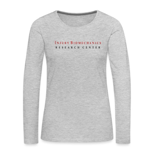 IBRC Classic with Fighting Skeleton on back - Women's Premium Slim Fit Long Sleeve T-Shirt