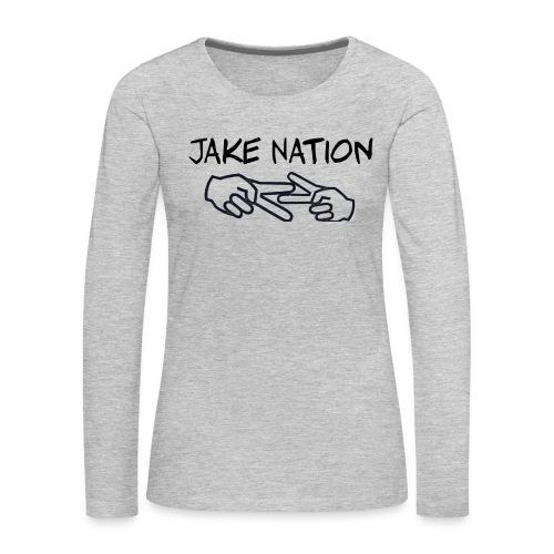 Jake nation shirts and hoodies - Women's Premium Long Sleeve T-Shirt